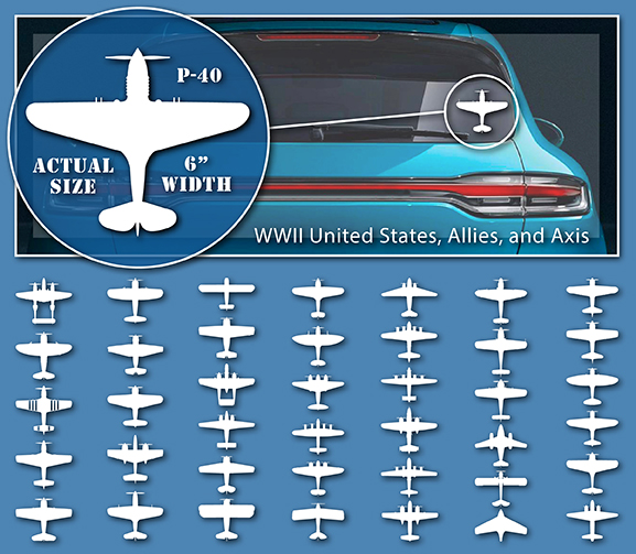 WWII Aircraft Stickers