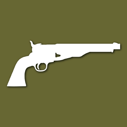 Colt 44 Army Revolver 1860 Vinyl Decal Sticker VSC60A